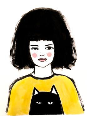 bob hair cat