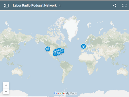 Labor Radio Podcast Network Map