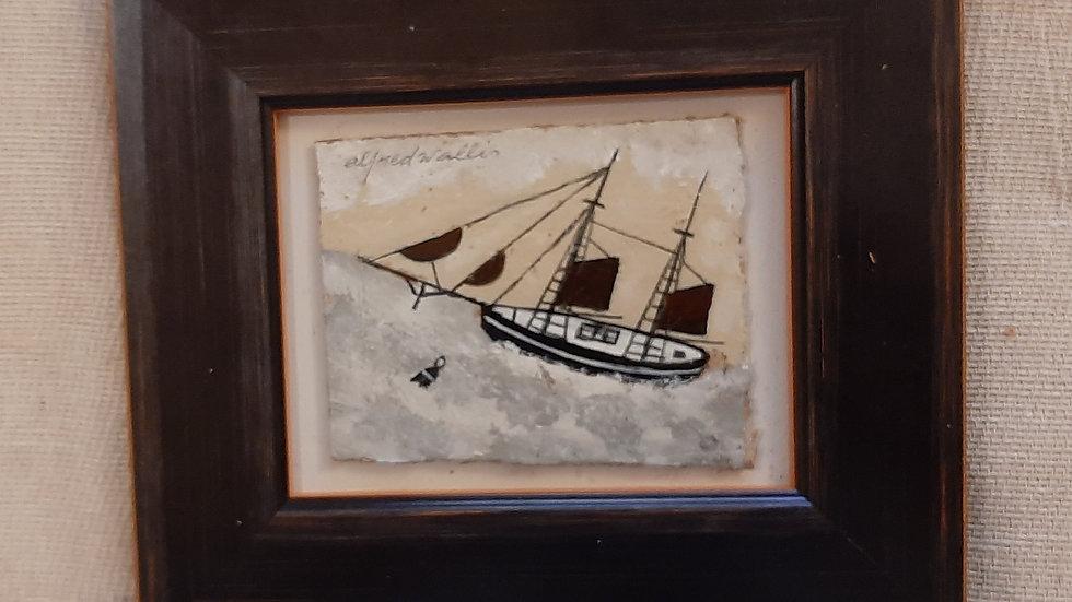 Black Schooner (with faux Wallis signature)