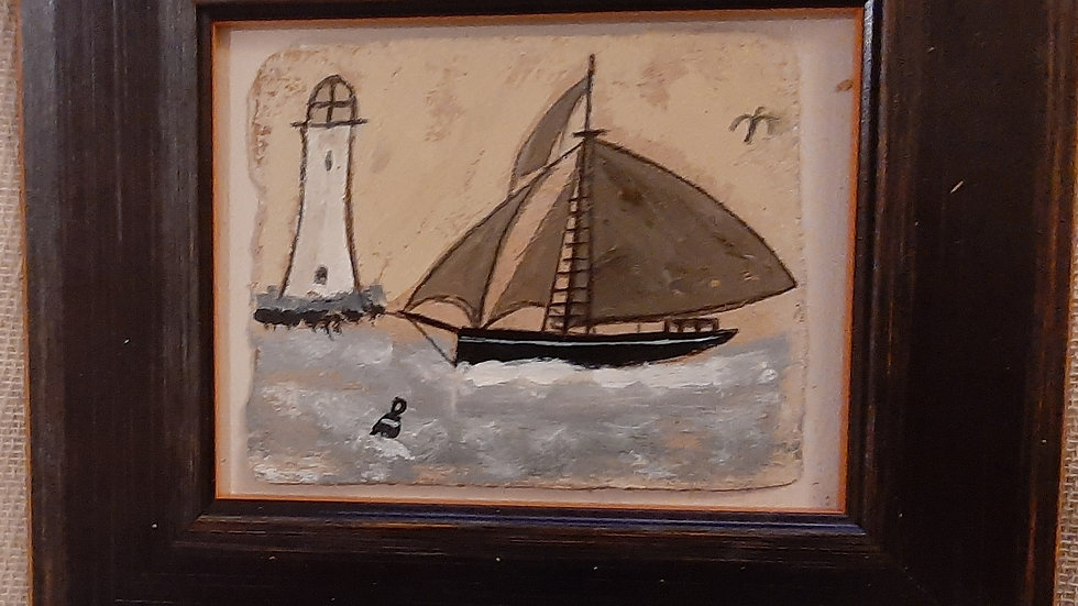 Cutter and Lighthouse