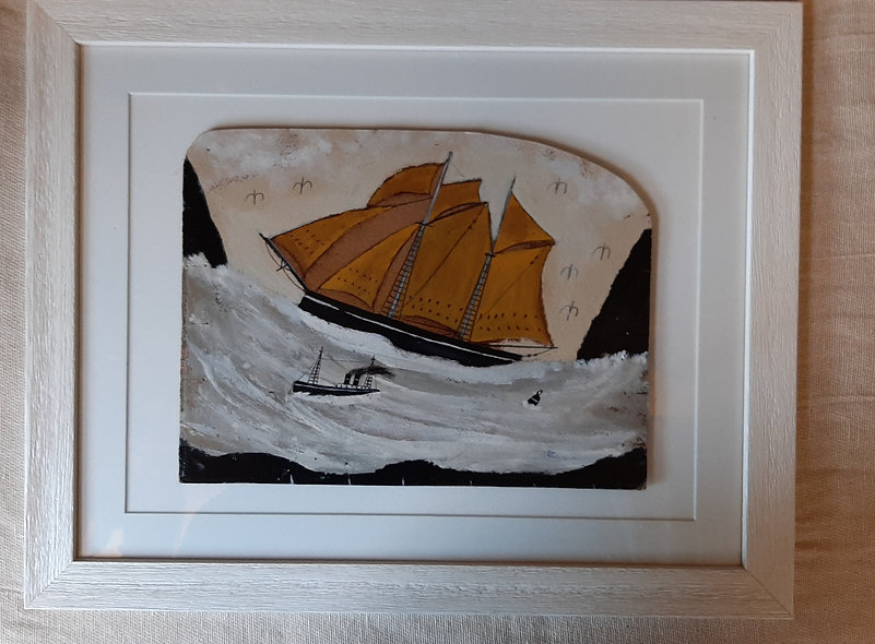 On A Swell - Alfred Wallis Homage Painting