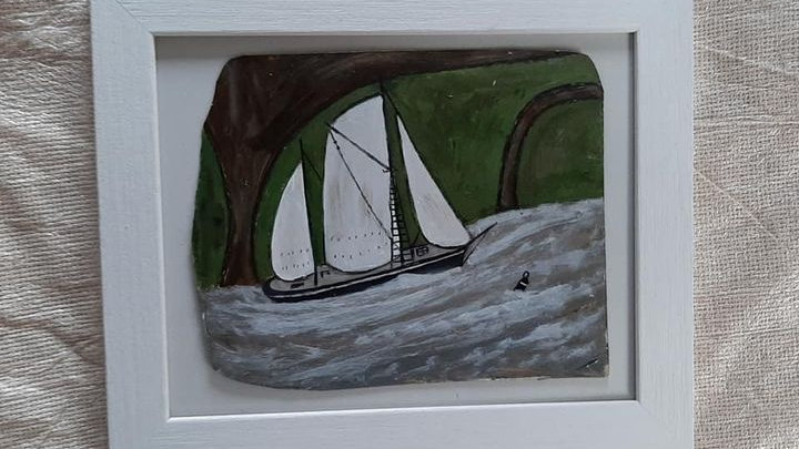 Painting of a Boat after Alfred Wallis