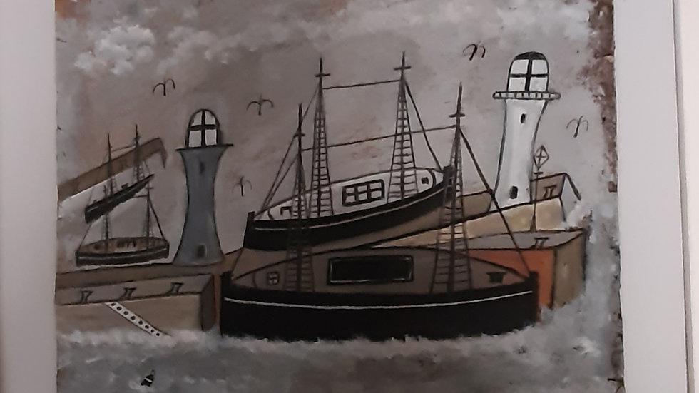 """Penzance Harbour""  20"" x 16"""