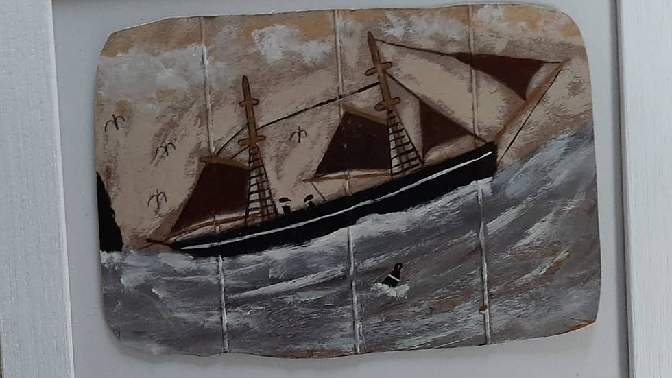 Alfred Wallis style original painting.