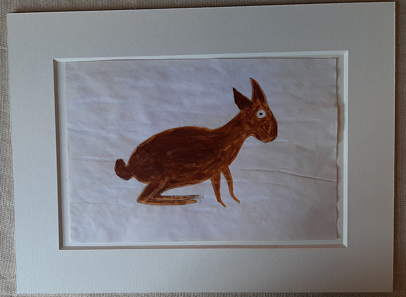 Brown Critter  -  after Bill Traylor