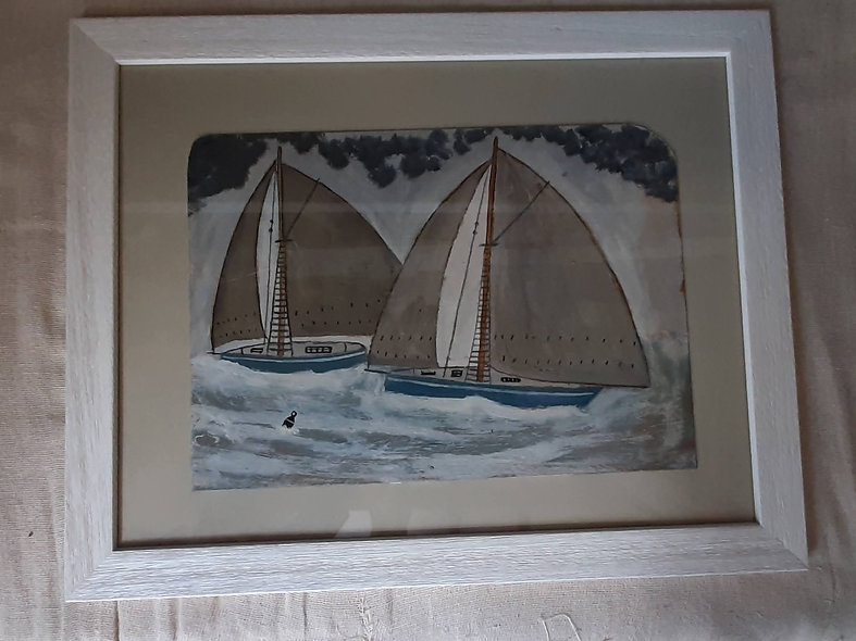 """The Blue Boats 20"""" x 16"""""""