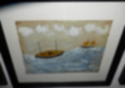 Alfred-Wallis-Style-Two-Luggers-14 x12-O