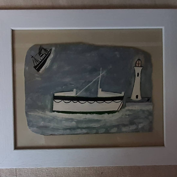 """The Lifeboat.    12"""" x10"""""""