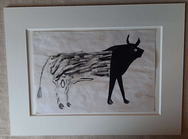 The Strange Beast -  after Bill Traylor
