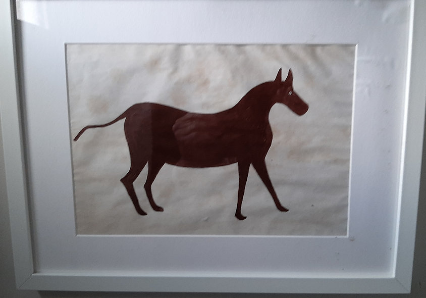 The Brown Horse.  (after  Bill Traylor)