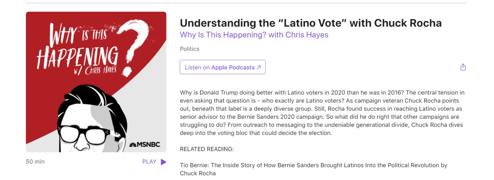 "Understanding the ""Latino Vote"" with Chu"