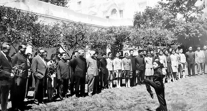 ホワイトハウスにて武術表演