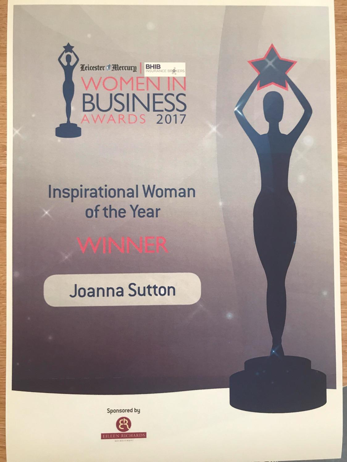Jo Sutton - Inspirational Woman
