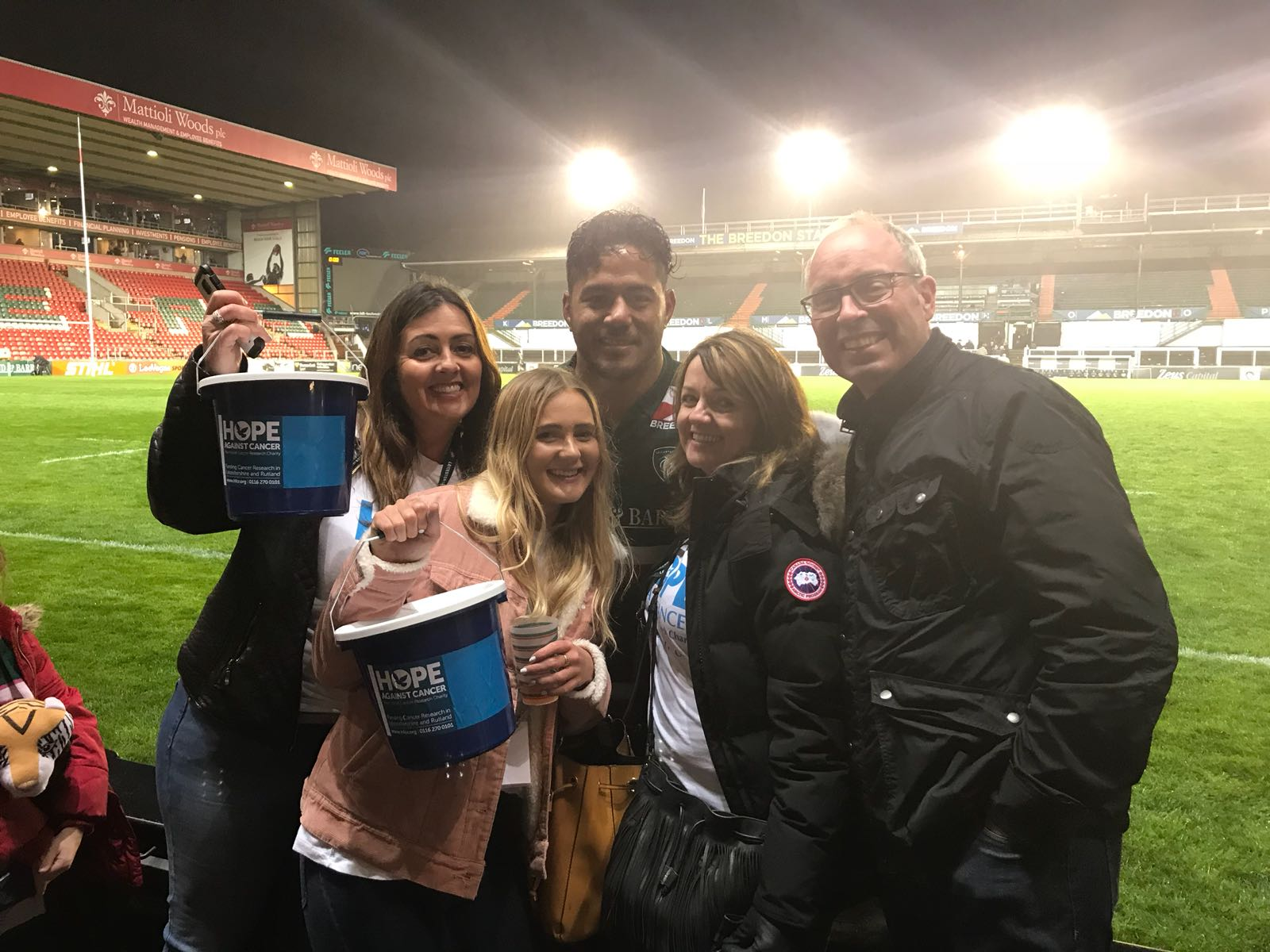 Fundraising at Leicester Tigers!