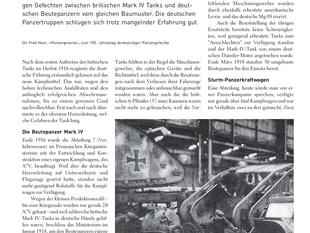 Mark IV gegen Mark-Beutepanzer