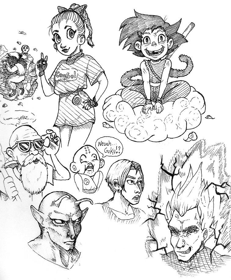 Dragon Ball sketches