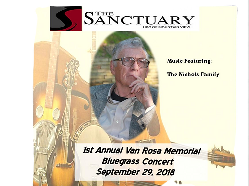 1st Annual Van Rosa Memorial Bluegrass CD