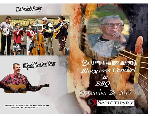 2nd Annual Van Rosa Memorial Bluegrass & BBQ 9/28/19