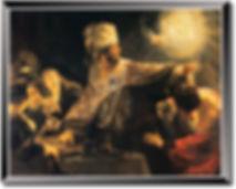 ペルシャザルの饗宴 レンブラント