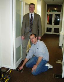 Repairing Newbury Community Centre Doors
