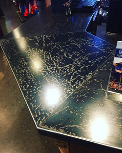 counter top at Squaw Valley ski shop