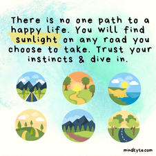 No one path to happiness