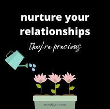 Nurture relationships