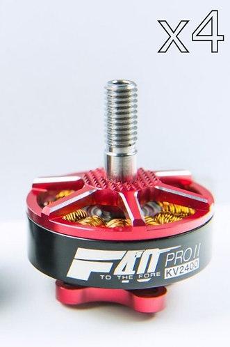 T-Motor F40 Pro II KV2400 Brushless Motors (x4) - Reactor Red