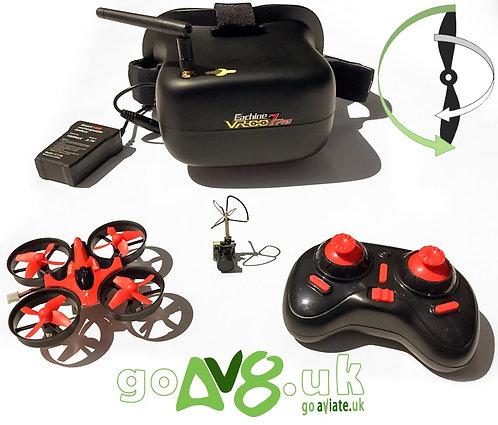 Eachine BUNDLE: VR-007 Pro Goggles + E010C FPV micro quad