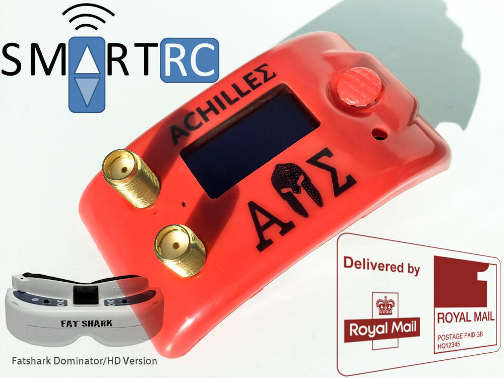 Achilles (Furious FPV) Diversity 5 8Ghz Module Receiver for Fat Shark  Dominator