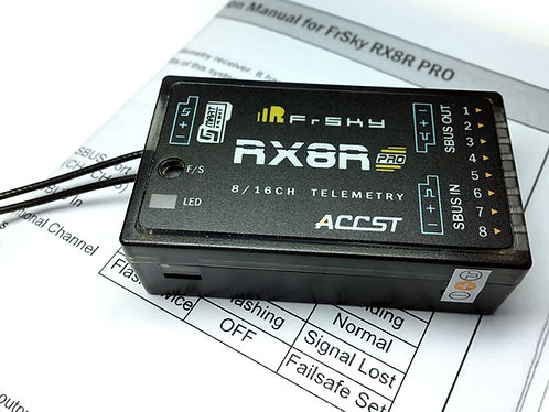 FrSky RX8R Pro Receiver w/ Telemetry Universal firmware