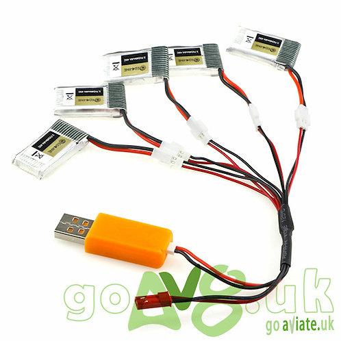 Eachine's LiPo battery and USB charger set (E010 E010C E011 E011C E013)