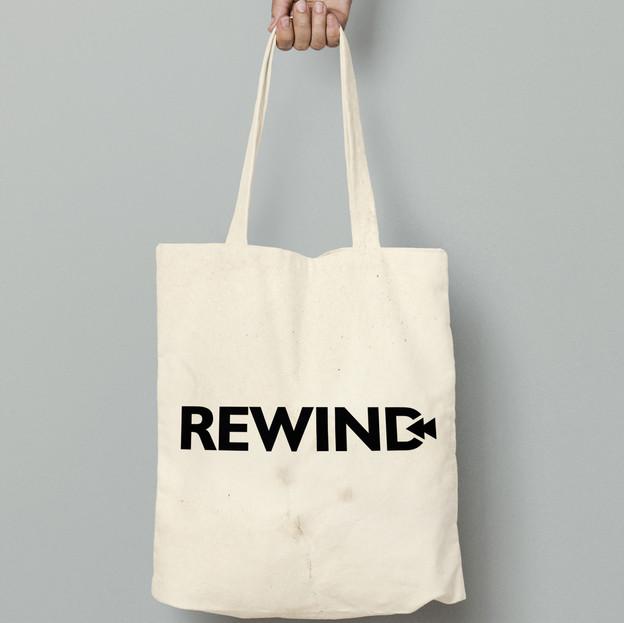 Rewind tote bag plain type