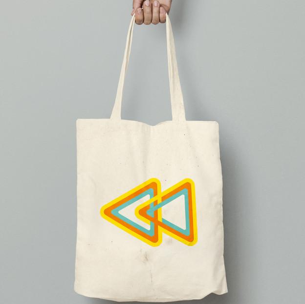 Rewind tote bag colour arrows