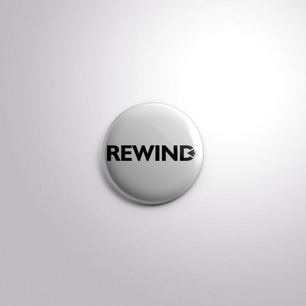 Rewind Badge plain type
