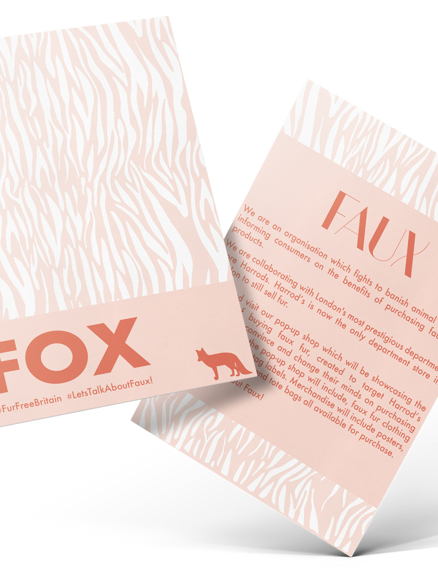 FAUX flyer pink