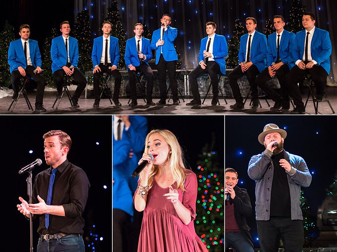 Christmas Under the Stars with BYU Vocal Point, Peter Hollens, Madilyn Paige, and Ryan Innes. This was Matt Newman's first year in the group.