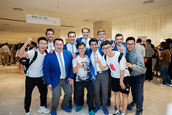 Matt Newman with the VP guys in China after a show