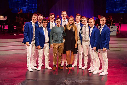 Matt Newman and the VP guys with David Archuletta and Colbie Cailat