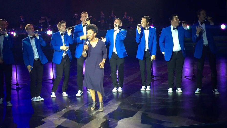 Matt Newman with the VP guys and Gladys Knight