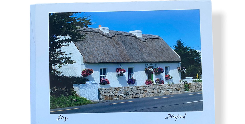 Thatched Cottage with Flowers