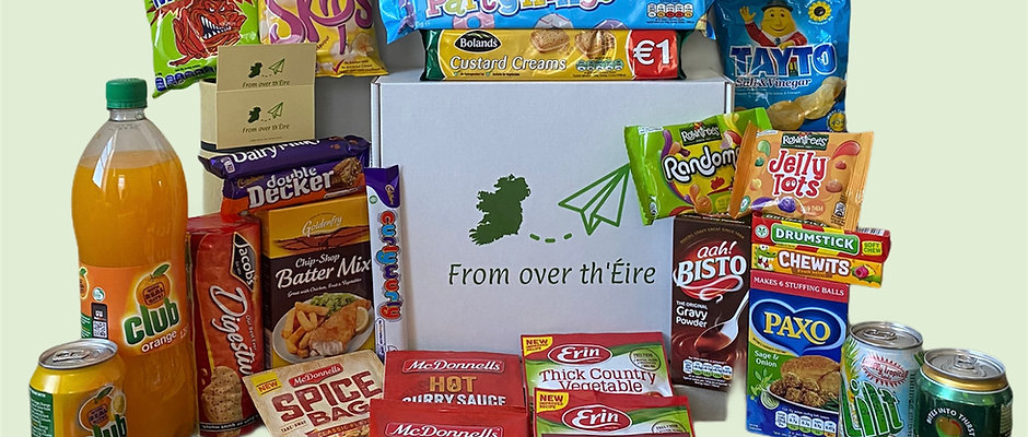 """The """"What do ye fancy?"""" Irish Snack Care Package"""