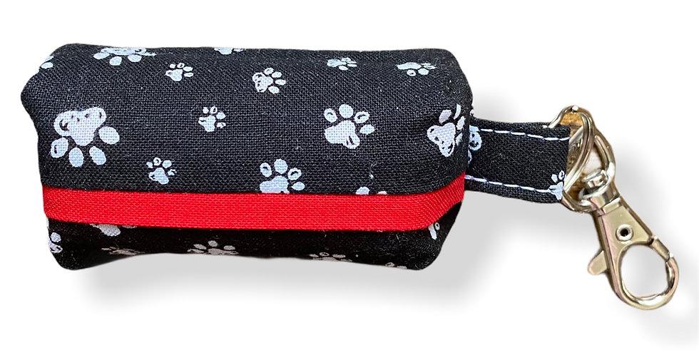 Dog Poop Bag Dispenser (White Paw Print)