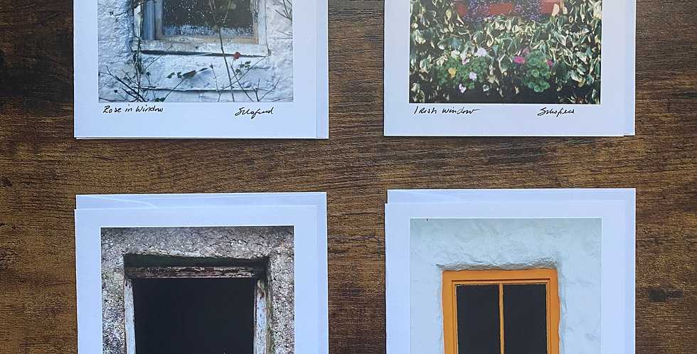 Set of 4 Irish Window Greetings Cards