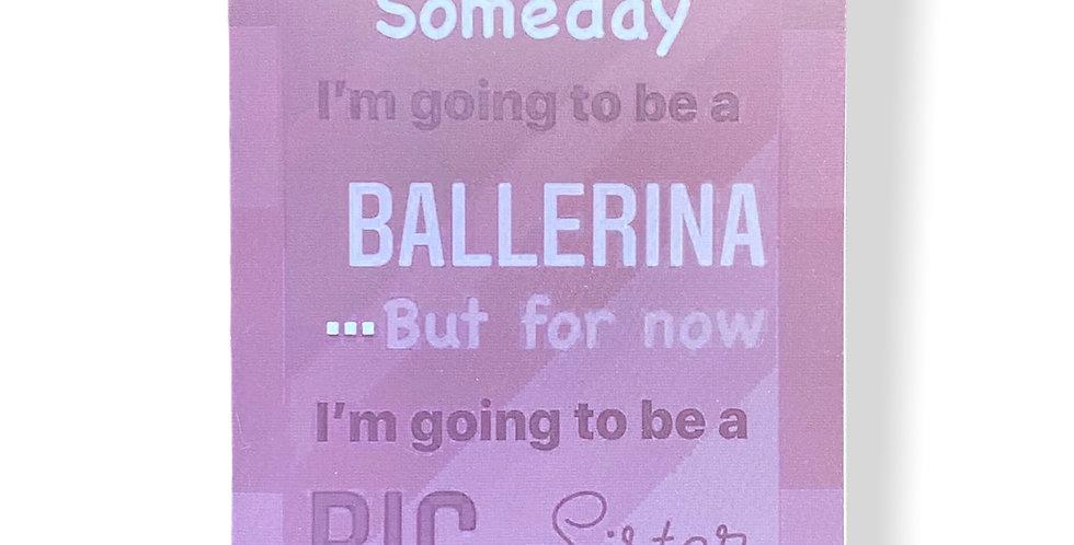 Big Sister Greetings Card