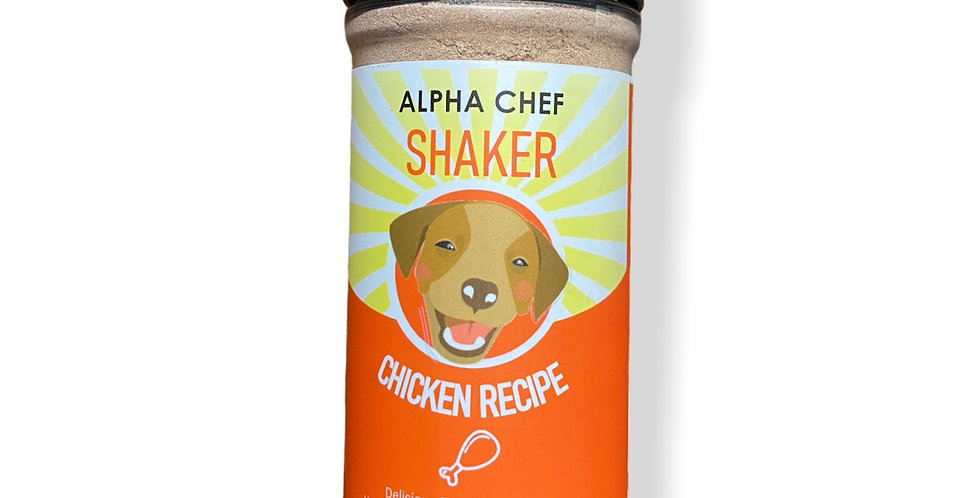 Alpha Chef Chicken Flavor Dog Food Shaker
