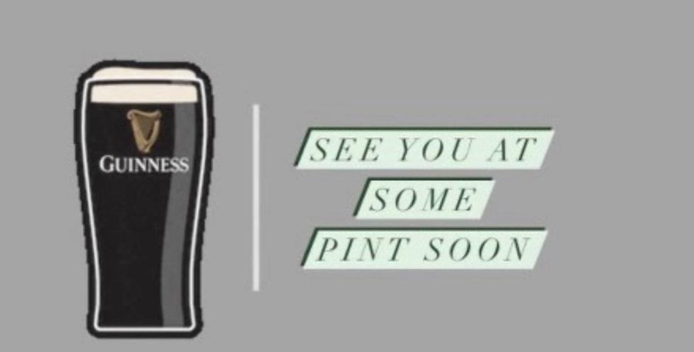 Guinness Greetings Card