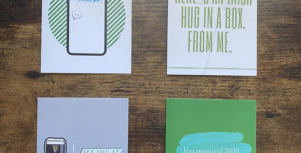 Set of 4 Printed Irish Greetings Cards