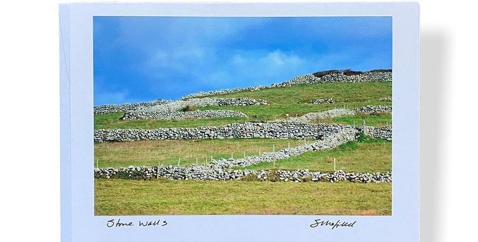 Irish Stone Walls Greetings Card