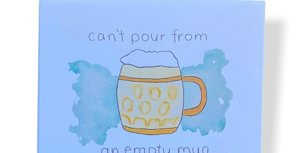 Beer Mug Greetings Card